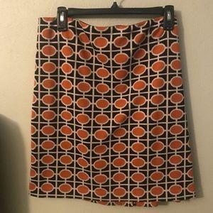 Orange/black skirt